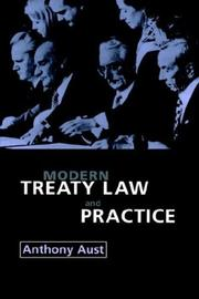 Cover of: Modern treaty law and practice