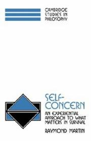 Cover of: Self-concern