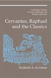 Cover of: Cervantes, Raphael, and the classics