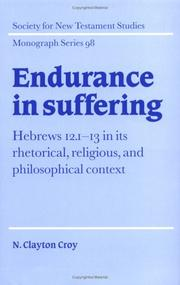 Cover of: Endurance in suffering