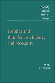 Cover of: Hobbes and Bramhall on Liberty and Necessity (Cambridge Texts in the History of Philosophy)