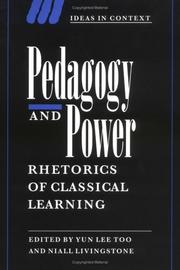Cover of: Pedagogy and Power |