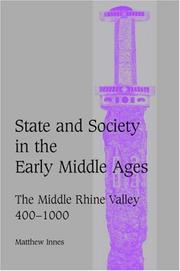 Cover of: State and society in the early Middle Ages