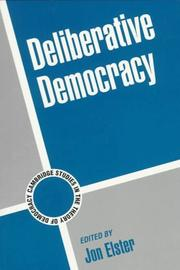 Cover of: Deliberative democracy