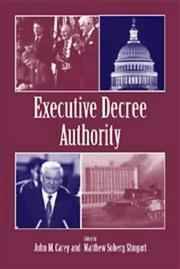 Cover of: Executive Decree Authority