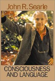 Cover of: Consciousness and Language