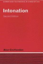 Cover of: Intonation