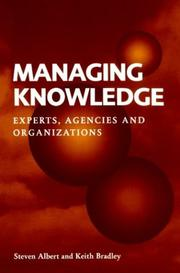 Managing knowledge by Steven Albert
