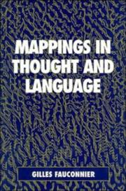 Cover of: Mappings in thought and language