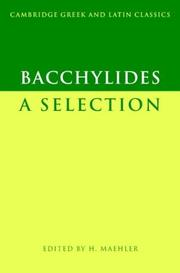 Bacchylides by Bacchylides.