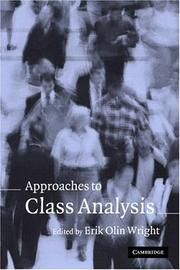 Cover of: Approaches to Class Analysis
