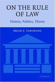 Cover of: On The Rule of Law | Brian Z. Tamanaha