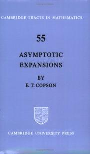 Asymptotic Expansions (Cambridge Tracts in Mathematics) by E. T. Copson