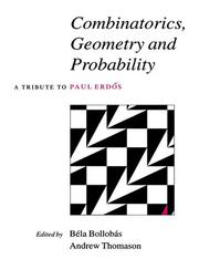 Cover of: Combinatorics, geometry, and probability |