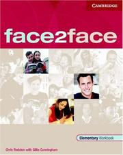 Cover of: face2face Elementary Workbook (face2face) | Chris Redston