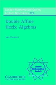 Cover of: Double Affine Hecke Algebras | Ivan Cherednik