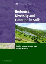 Cover of: Biological Diversity and Function in Soils (Ecological Reviews) |