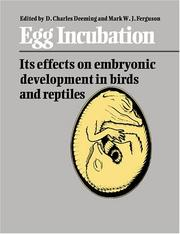 Cover of: Egg incubation |