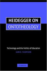 Cover of: Heidegger on Ontotheology