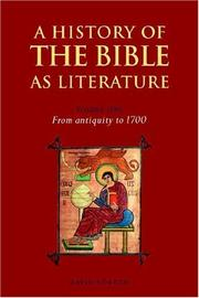 Cover of: A History of the Bible as Literature