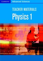 Cover of: Teacher Materials Physics 1 CD-ROM (Cambridge Advanced Sciences) | Gurinder Chadha