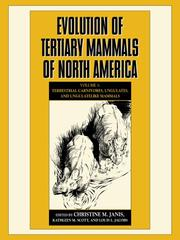 Cover of: Evolution of tertiary mammals of North America
