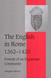 Cover of: The English in Rome, 13621420: Portrait of an Expatriate Community