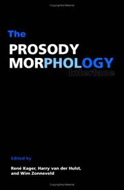 Cover of: The prosody-morphology interface |