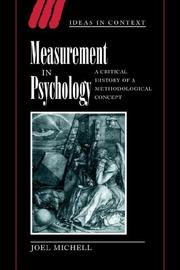 Cover of: Measurement in psychology | Joel Michell