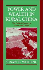 Cover of: Power and Wealth in Rural China | Susan H. Whiting