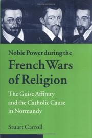Cover of: Noble power during the French wars of religion