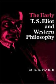 Cover of: The early T.S. Eliot and western philosophy