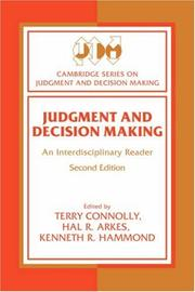 Cover of: Judgment and decision making