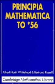 Cover of: Principia mathematica to * 56