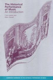 Cover of: The historical performance of music
