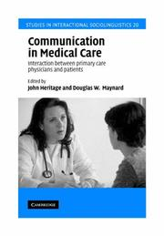 Cover of: Communication in Medical Care |