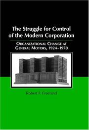 Cover of: The Struggle for Control of the Modern Corporation | Robert F. Freeland