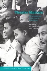 Cover of: Theatre Matters |