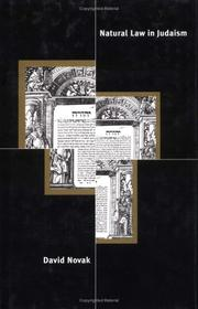Cover of: Natural law in Judaism