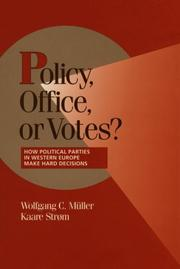 Cover of: Policy, Office, or Votes? | Wolfgang C. M^D