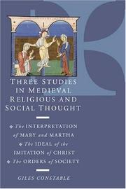 Cover of: Three studies in medieval religious and social thought