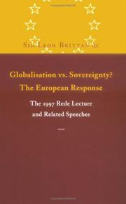 Cover of: Globalisation vs. sovereignty? | Leon Brittan