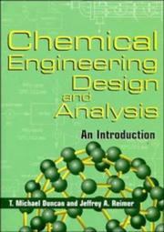 Cover of: Chemical engineering design and analysis