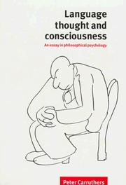 Cover of: Language, thought, and consciousness