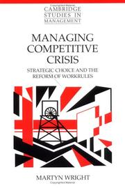 Cover of: Managing competitive crisis