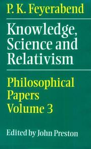 Cover of: Knowledge, science, and relativism