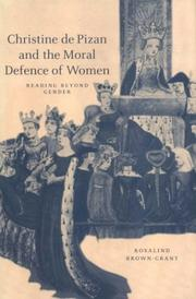 Cover of: Christine de Pizan and the Moral Defence of Women