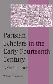 Cover of: Parisian scholars in the early fourteenth century