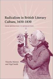 Cover of: Radicalism in British literary culture, 1650-1830 |