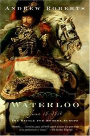 Cover of: Waterloo: June 18, 1815
